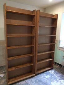 Two free standing bookshelves
