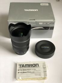 Tamron SP 15-30mm F2.8 Di VC USD Wide Angle Lens Canon EF Mount (AS NEW - Never Used)