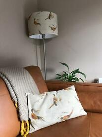 Country Pheasants matching drum lampshade and cushion