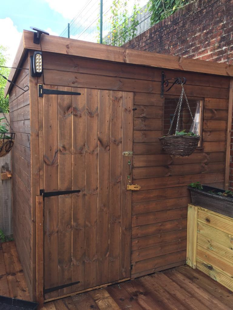 brand new sheds for sale 7ft x 5ft pent roof including free delivery and assemble in