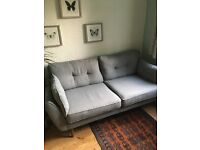 Grey/ grey combination French connection 3 seater sofa