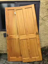 FREE - 2 pine doors, collect from Windermere