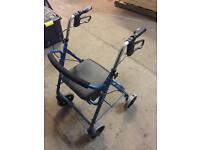 Roma Rollator walker with seat and storage