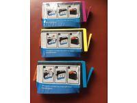 PRINTER HP CARTRIDGES - BLUE, MAGENTA AND YELLOW - SEALED - £5