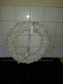 Circle wicker hanging ornament