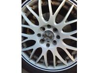 """15"""" white alloys 4x100 good tyres"""