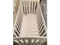 Roma cot with high quality mattress