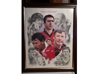 Manchester United Football Players Print Picture . ' Kings of Old Trafford '.