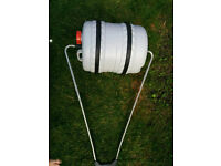 Rotary water butt and handle/camping, caravan ,water supply