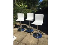 3 white bar stools