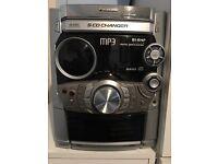Panasonic 5 CD Changer Hi-Fi System