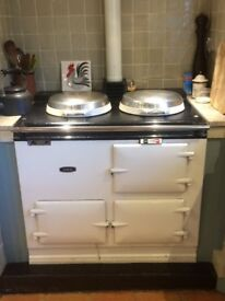 Two door, oil-fired AGA for sale