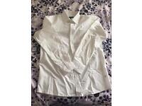 "Brand new men's white shirt 15.5"""