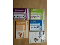 5 x national 4 and 5 Leckie+Leckie course notes books. Biology. Admin and IT. Art. Graphic com. Math