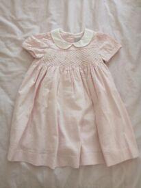 John Lewis Heirloom Collection Rose Stripe Dress (size 12-18 months)