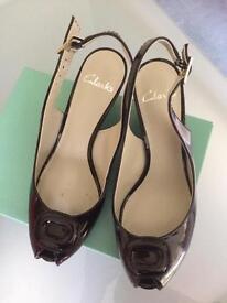 Patent Clarks shoes