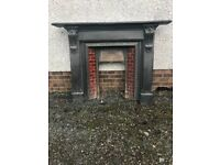 Cast iron Antique Fireplace