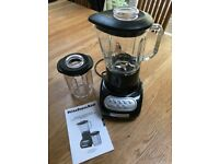 Kitchen Aid Food Blender with glass pitcher and culinary jar