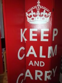 Keep calm and carry on dressing screen