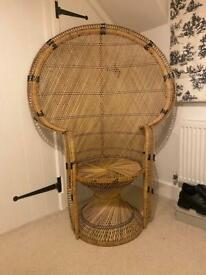 Large Vintage Peacock Chair for sale