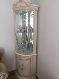 Glass showcase. Italian make