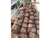 Reclaimed clay roof tiles and bonnets