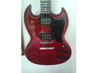 epiphone s.g by gibson (made in korea) with bag and strap