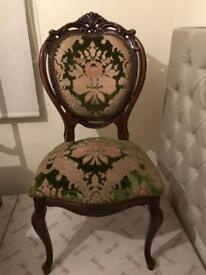 Carved Louis style chair shabby chic project