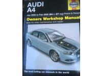 Haynes workshop manual Audi A4