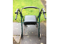 DAYS 4 Wheel Mobility walker with seat and storage