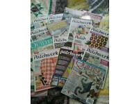 Job lot of 15 various patchwork and quilting magazines