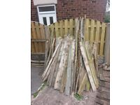 free wood for fire pits etc..old fence panels..break up for a fire pit..collection biddulph..