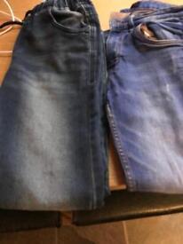 2 pairs boys next jeans
