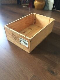 Vintage French wine wooden crate