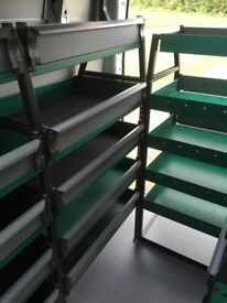 Exceptional quality van racking system by 'System Edstrom'.
