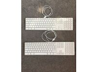 2 x Apple Wired Keyboards For Sale