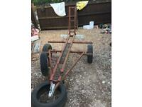 Single bike trailer with light board and new tyres