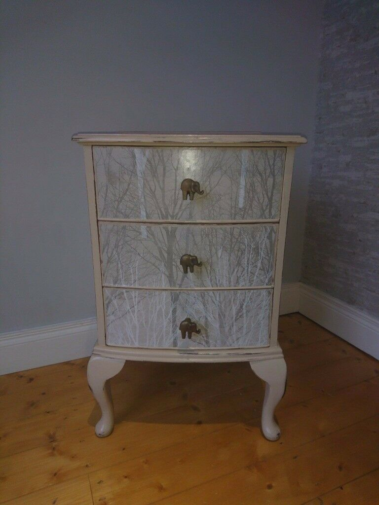 Upcycled Vintage Hand Painted Bedside Cabinet or storage £90