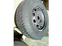 14 inch 5 stud wheels , brand new tyres ( audi vw fitting )