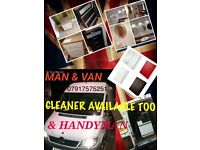HANDYMAN &MAN&VAN&CLEANER TO HELP MOVING+ ASIMBLY FURNITURE+CLEANING ALL HOME ENQUIRIES 24/7READY4U