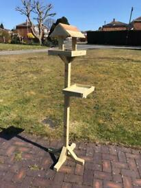 Handmade Bird table with side feeder