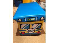 Train toy box storage