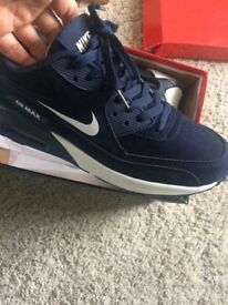 Brand new boxed air max size 7 in blue and black