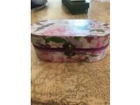 Decoupage trinket box 6 ins