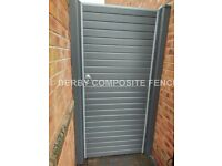 Grey composite garden gate, plastic gate 6ft high x 3ft wide +++NEW+++