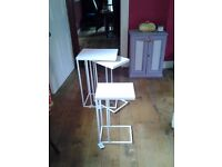 Set of three contemporary nesting occasional tables