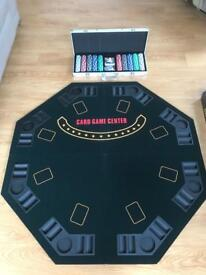 Poker table and chips - used once.