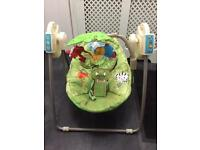 Fisher price rain forest musical swing