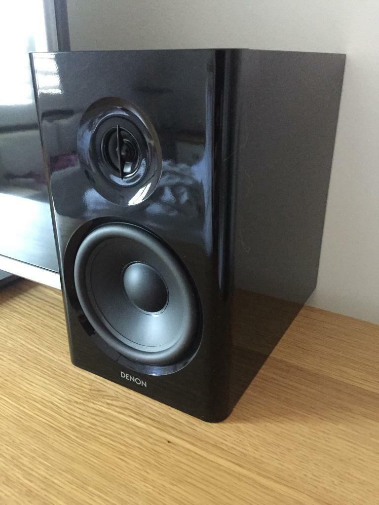 Denon SC N7 Piano Black Bookshelf Speakers