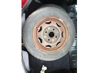 Steel radial wheel 155/70/13 6mm tread on tyre